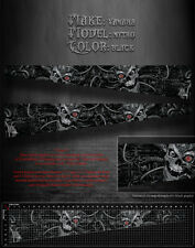 "YAMAHA TRIM 2 FIT NYTRO 162"" TUNNEL DECALS GRAPHICS KIT ""MACHINEHEAD"" BLACK PART"