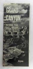 Map Booklet 1960 Grand Canyon National Park Arizona Souvenir Brochure Vintage