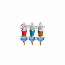 ICE cream van / Set de 3 sherbert Rouge / Bleu & nid d'abeille gaufres toutes découpées,