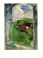 "1972 Vintage MARC CHAGALL ""THE WINDOW LA FENETRE"" LOVELY COLOR offset Lithograph"