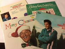"""ELVIS-BING-PARTRIDGE FAMILY-BOBBY VEE""  RECORD VINYL (4) LP's CHRISTMAS RETRO"
