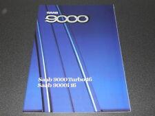 SAAB 9000 Turbo 16 et 9000i 16 brochure catalogue année modèle 1987 - rare