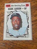 1969 Topps Hank Aaron Atlanta Braves #100 Baseball Card