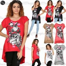 Viscose Short Sleeve Floral T-Shirts for Women