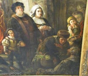 Gemälde Maler Eduard Bretschneider Die Kirchenbuße Original Öl Bild