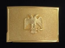 Scottish Rite Sword Belt Plate in Gold Finish (RUB-48)