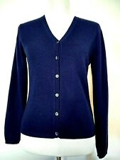Barneys New York Womens Blue Cashmere Cardigan Sweater Size Small