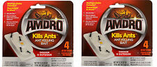 "2 x 4 Pack AMDRO Ant Killing Baits (Indoor/Outdoor) ""Kills Ants"" - 8 Stations"