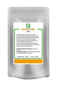 Taurin | 100% reines Pulver | Angebot | Muskelaufbau Aminosäure Sport Nutrition