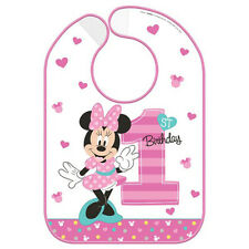 MINNIE MOUSE Fun to Be One PLASTIC BIRTHDAY BIB ~ First Party Supplies 1st Honor