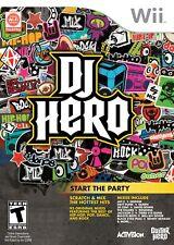 DJ Hero 1 For Wii Music Very Good 6E