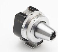 Leica E.Leitz Wetzlar VIDOM Sucher black nickel plain nose range view finder