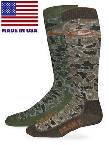 Drake Mens Camouflage 40% Merino Wool Full Cushion Wicking Tall Boot Sock 1 Pair