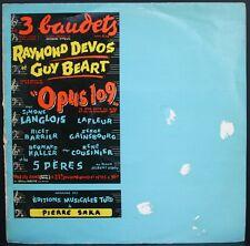 SERGE GAINSBOURG Rare Collector OPUS 109 AUX 3 BAUDETS LP 33T ORIGINAL BIEM