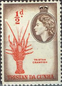 Tristan Da Cunha Islands Fauna Crawfish stamp 1964 MLH