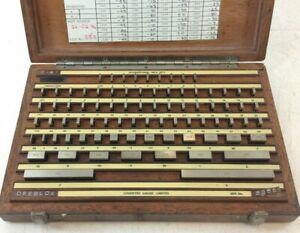 "Coventry Gauge & Tool Co. Steel Slip Gauge Set | 0.05 - 4"" Range | 81 Pieces"