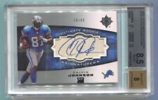2007 Ultimate Collection Calvin Johnson Autograph RC 58/99 BGS 8.5 NM-MT