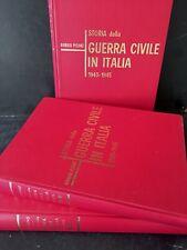 Pisanò - Storia della Guerra Civile in Italia 1943-1945 3 Volumi Ed FPE 1965 RSI