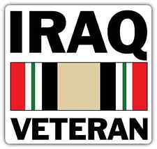 """Iraq Veteran US Army War United States Car Bumper Vinyl Sticker Decal 4.5""""X4.5"""""""