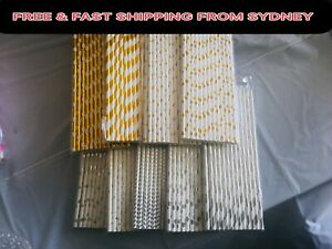 14Color 25X Silver Gold Drink Paper Straw Party Brunch Favors Wedding Gift Bags