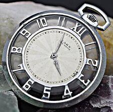Vintage SAKS 5TH AVE Seeland Watch Co. 15 Jewel Skeletonized Pocket Watch