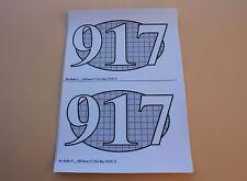 QQ 2 Certificat autocollant PORSCHE 917 LH Le Mans 70 N°25 pour socle Heco 1/43