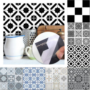 10pcs Moroccan Mosaic Tile Wall Floor Tiles Sticker Decal Kitchen Bathroom New