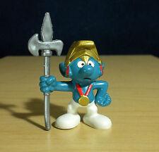 Smurfs 20109 Knight Smurf Castle Guard Rare Vintage Figure PVC Toy Peyo Figurine
