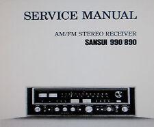 Sansui 890 990 récepteur stéréo service manual inc Schems imprimé bound anglais