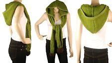 ConMiGo London SC120 Green Wool Scarf /Shawl with Hood