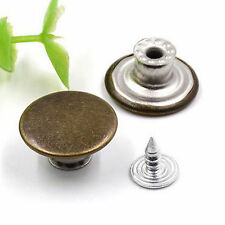 50pcs Blank NO SEW Replacement Metal Button 20mm For Jeans/Denim-shirts/Pants