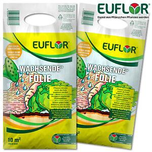 Euflor 2x 10m² »Wachsende« Folie (140 cm breit) Erdbeeren Gemüse Blumenbeet