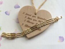 Pulseras de bisutería brazalete de metal dorado
