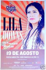 LILA DOWNS 2014 SAN DIEGO CONCERT TOUR POSTER- Mexican Singer, Latin World Music