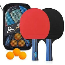 Table Tennis Racket Set, 2 Premium Rackets and 3 Ping Pong Balls by Number One