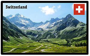 SWITZERLAND - SOUVENIR NOVELTY FRIDGE MAGNET - SIGHTS / FLAG / NEW / GIFTS