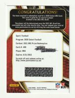 2020 Panini Select Football XRC Prizm Redemption RB4 2021 NFL Draft Silver SSP