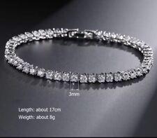 Sale Women's 5.50 Ct Round VVS1 Diamond 3mm Tennis Bracelet 14K White Gold