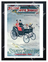 Historic British Motor Syndicate Stanley Show, 1896 Advertising Postcard