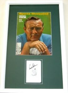 Arnold Palmer autographed signed auto Masters scorecard framed w/ 1969 SI cover