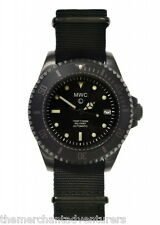 MWC 24 Jewels 300 PVD Black Steel Automatic Submariner Military NATO Men's Watch