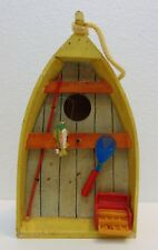 Fishing Boat Bird Home Decor House Garden Yard Patio