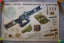 Dragunov Rifle`s Scope -  Russian Military Soviet Weapon Original Poster - 1970