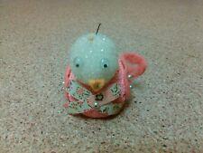 old vintage funny cute homemade handmade little duck pin figure figurine pink