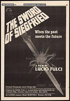 THE SWORD OF SIEGFRIED__Original 1982 Trade print AD promo / poster__LUCIO FULCI