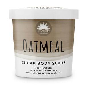 Oatmeal Sugar Body Scrub, exfoliator, soften and smooth, natural exfoliants