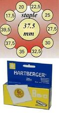 25 HARTBERGER staple  2 x 2 coin holders: 37.5 mm made in the Netherlands