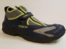 Mens Yukon Athletic Hiking Shoes  M Blue / Yellow Slip-On Zipper