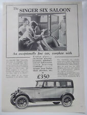 The Singer Six Saloon Motor Car Only £350 Singer Co Coventry Vintage 1929 Advert