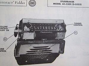 1953 STUDEBAKER AC-2301  ( S-5323 ) RADIO PHOTOFACT